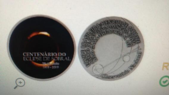 Moeda Medalha Prata 100 Anos Do Eclipse De Sobral 64g