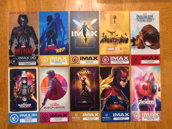 Colección Boletos Imax Ant Man Wasp Captain Marvel Avengers