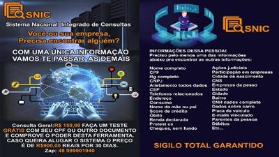 Snic - Sistema Nacional Integrado De Consultas