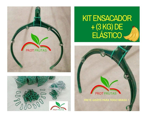 Kit Ensacador Para Cacho De Banana + 3 Kg Elástico
