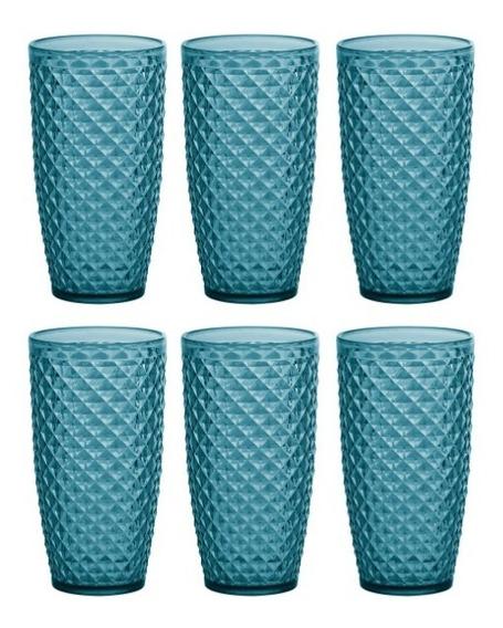 6 Copos Para Drink/água/suco Luxxor Paramount 800ml