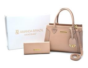 Bolsa Lorena Feminina Amanda Brazil C/ Carteira 02