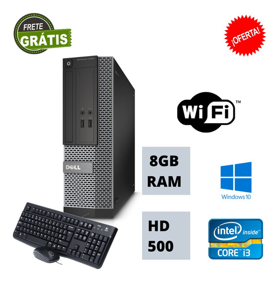 Desktop Mini 3020 I3 4130 8gb Hd 500gb Windows 10 Pró Nova