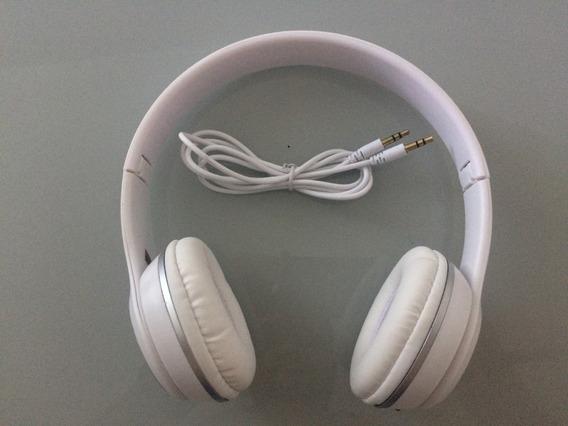 Fone De Ouvido Inova Com Microfone Branco
