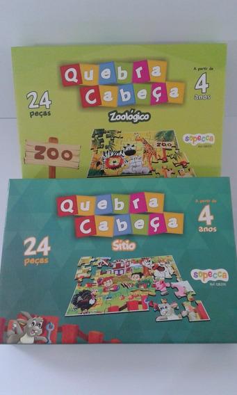 2 Jogos Educativo Quebra-cabeça Zoo E Sítio 2017 Sopecca