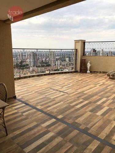 Cobertura Com 3 Dormitórios À Venda, 368 M² Por R$ 2.250.000,00 - Jardim Irajá - Ribeirão Preto/sp - Co0155