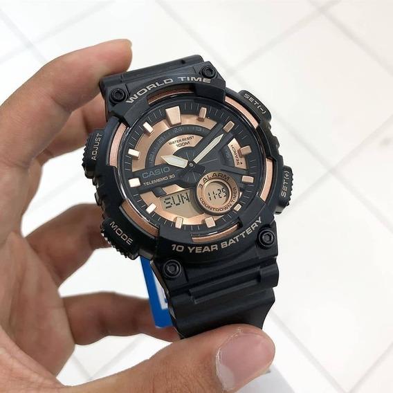 Reloj Casio Para Caballero Aeq-110w-1a3vcf Digital Analogo