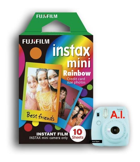 Filme Instax Mini C/ 10 Fotos Moldura Colorida