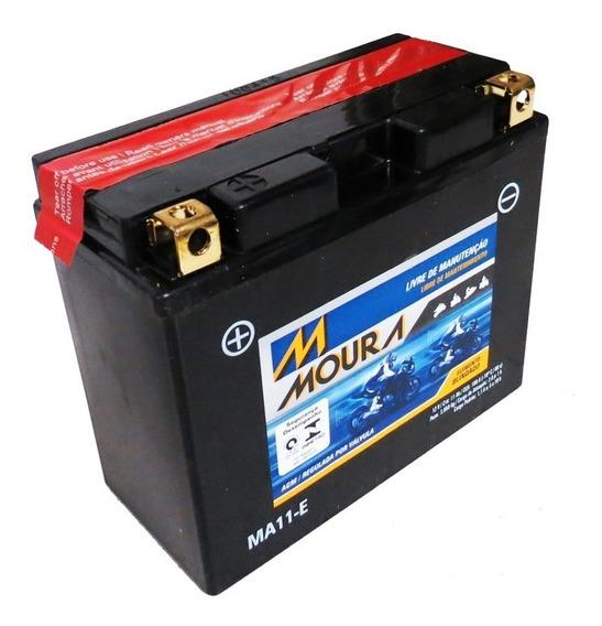 Bateria Moto Ma11-e Moura 11ah Hyosung Gv650 Se St7 Dragstar