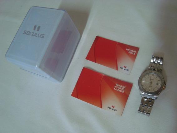 Relógio Masculino Seculus Prata Barato Promoção