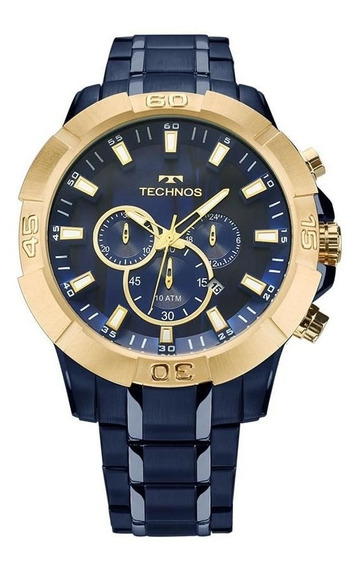 Relógio Technos Masculino Ref: Js26af/4a Big Case Azul
