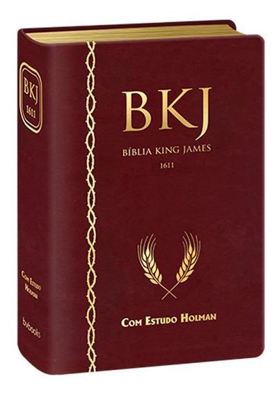 Bkj - Bíblia King James Fiel 1611 Com Estudo Holman (vinho)