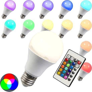 Lampara Led Rgb 5w Control Remoto 15 Colores + Blanco Frio