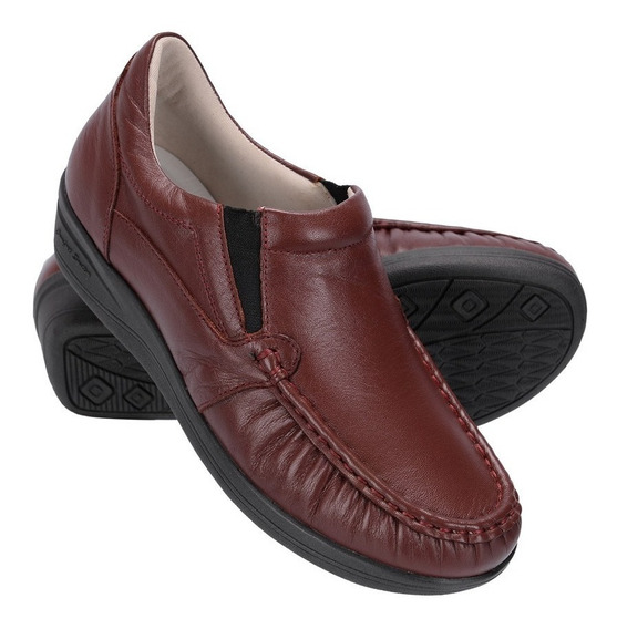 Sapato Feminino Ortóptico Em Couro Palmilha Anatômica 8005