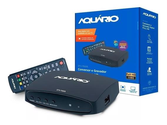 Conversor De Sinal Tv Digital Hd Gravador Aquário Dtv-7000s