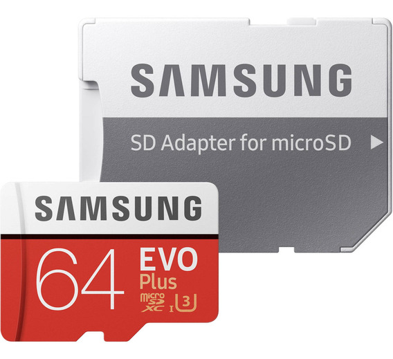 Memoria Micro Sd C/ Adaptador Samsung Evo Plus 64gb