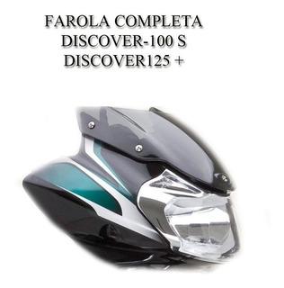 Carenaje + Farola + Visor - Discover 100s - 125 + Negro