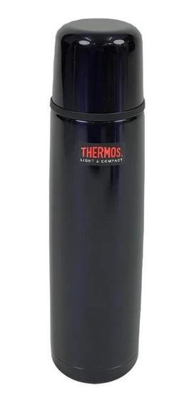 Garrafa Térmica Aço Inox 1l Thermos Cairo Azul 24h Gelado