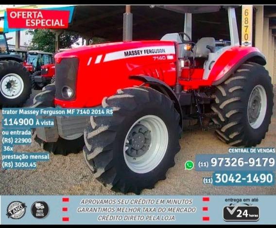 Trator Massey Ferguson Mf 7140 2014 - Vermelho
