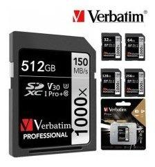Sdhc Verbatim 512gb 150mb/s - Nikon, Sony - Profissional