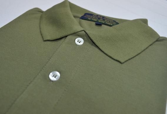 Chomba Pique Tipo Polo Color Verde Musgo