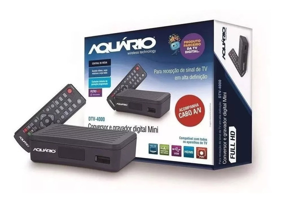 Conversor Digital Dtv 4000 Aquario Para Tv(usado)
