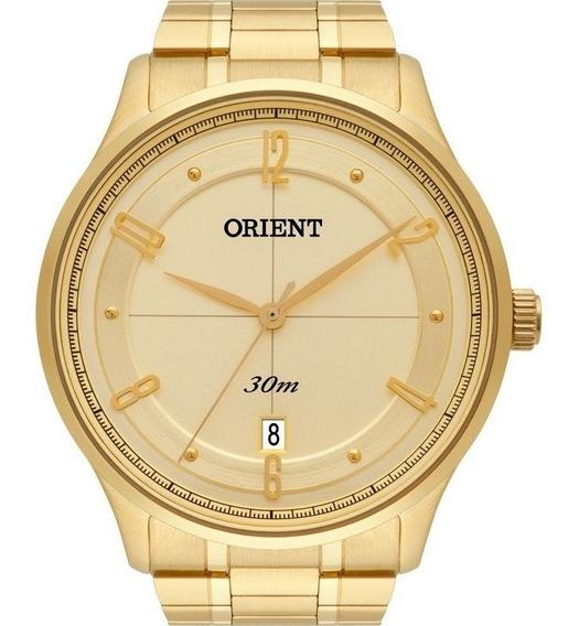 Relógio Orient Masculino Analógico Dourado Mgss1126c2kx