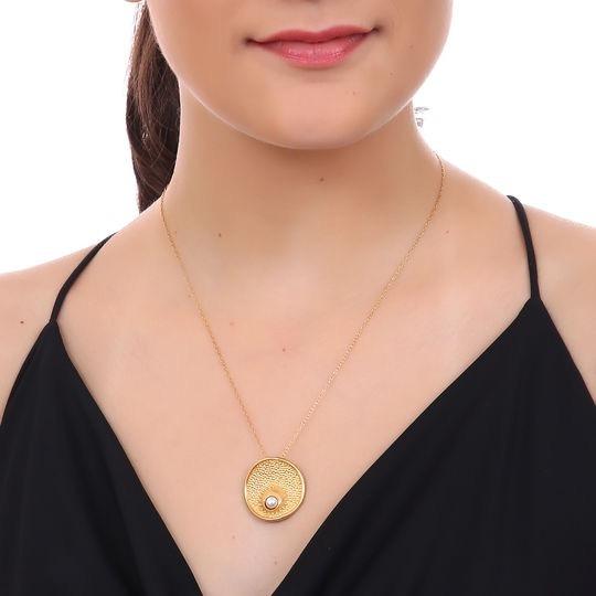 Dije Molécula C/cad Plata Y Perla Mauricio Serrano Jewelry