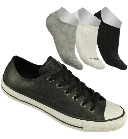 Kit Tênis Converse All Star Unissex+3 Meias Lupo Sapatilha!