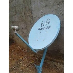 Antena Satelital Movistar Con Lnb Y Base