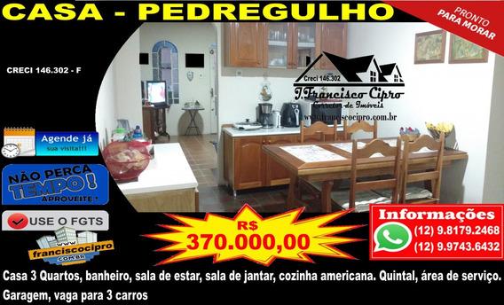 Casa A Venda No Bairro Pedregulho Em Guaratinguetá - Sp. - Cs295-1