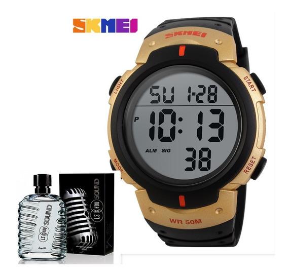 Relógio Skmei 1068 + Colônia Luan Santana 100ml Promoção