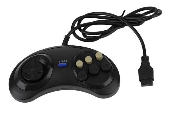 Seis Buttoms Jogo Lidar Comando Padaccessories Para Sega Meg