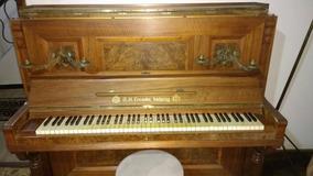 Piano A. H. Francke Alemão Década De 20 Armário Vertical