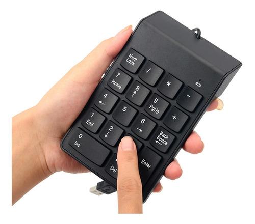 Teclado Numérico Para Pc Macbook Notebook 18 Teclas Usb