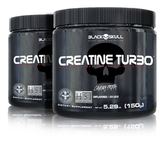 Combo 2x Creatine Turbo 150g - Black Skull