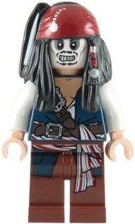 Lego Piratas Del Caribe Minifigura De Esqueleto De Jack