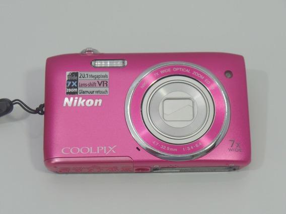 Camera Digital Nikon S3500 20mp Barata Oferta + Brindes