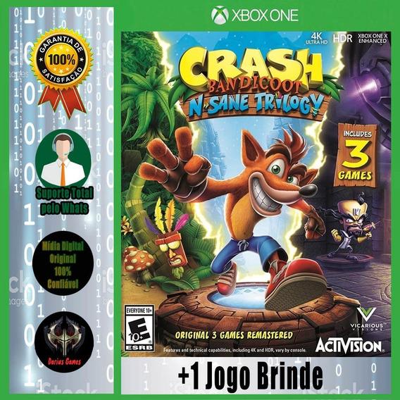 Crash Bandicoot Sane Trilogy Xbox One Midia Digital +1 Jogo