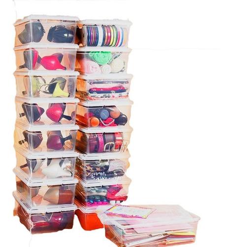 Oferta!! Organizador 10un Zapatos Multiuso Caja Plástico