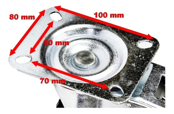 Rodízio Giratório De Borracha C/ Trava 5 Pol 125mm Beltools