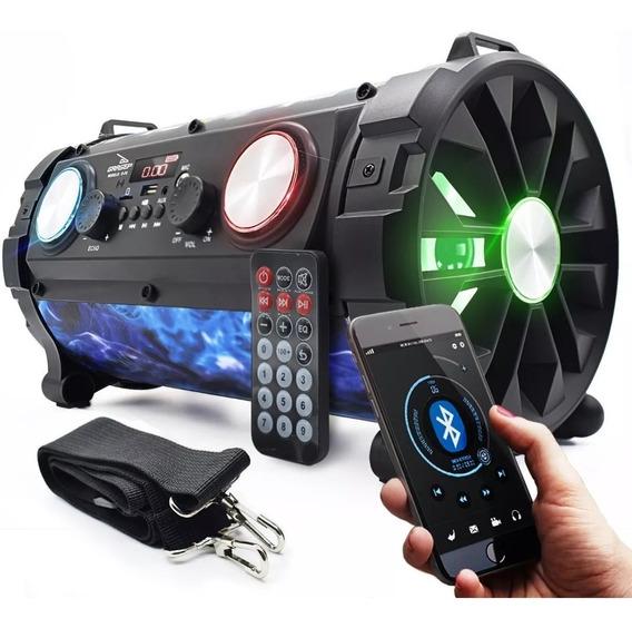 Caixa Som 24w Rms Bluetooth Amplificada Fm Mp3 Usb Microfone