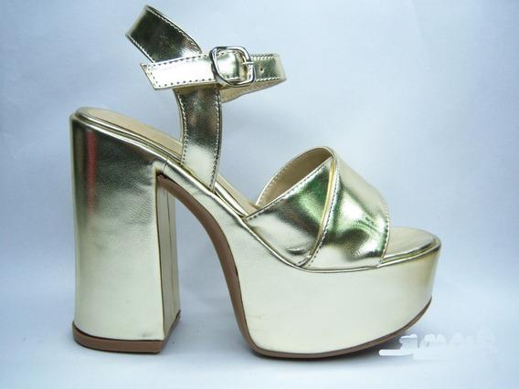 Sandalias Mujer Zapatos Cruzada Plataforma Liviano 12 Cm 390