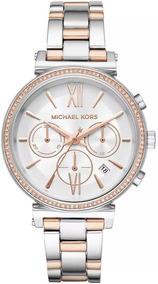 Relógio Michael Kors Feminino Sofie Cronógrafo Mk6558/1kn