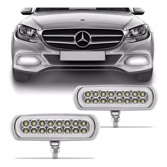 Kit Milha Strobo Safety Car Slin 16 Leds Branco 12 V