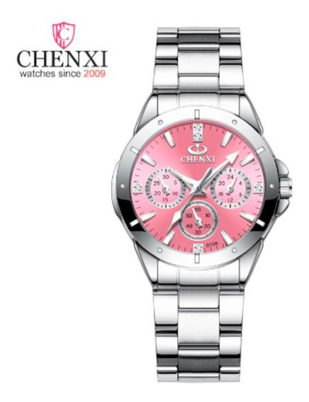 Relógio Feminino De Luxo Em Aço Inox - Cx019a