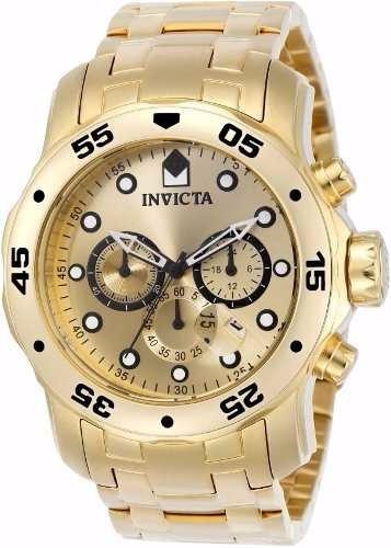 Relógio Invicta Pro Scuba Drive - Ouro 18k Certificado+caixa