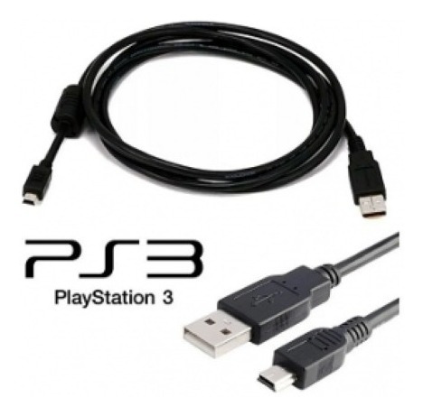 Cable Play 3 Ps3 3mts Usb A Miniusb Titan Belgrano