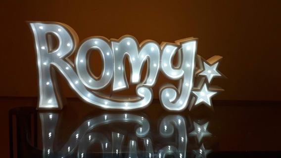 Nombres Iluminados 4 Letras 30 Cm - Polyfan Cartel Con Luces