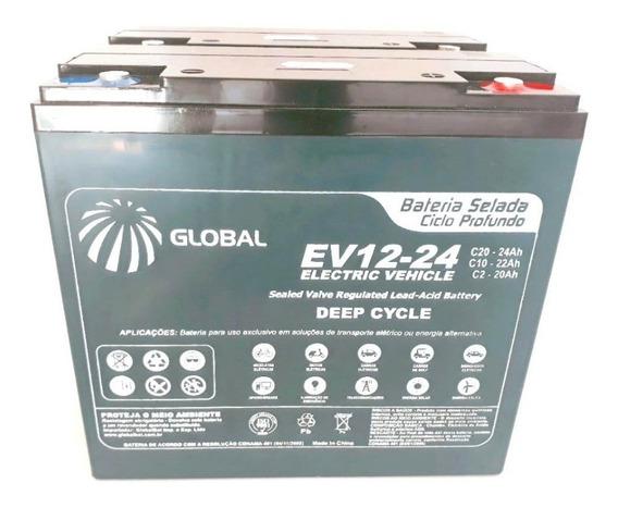 Bateria Global 24v 24ah Cadeira De Rodas Motorizada Ortobras